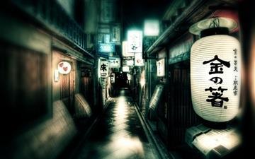 Japan Street Lights Mac wallpaper