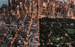 Aerial of Central Park an...