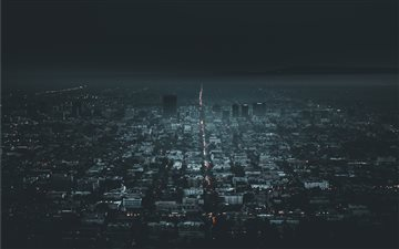 Darkness in Los Angeles All Mac wallpaper