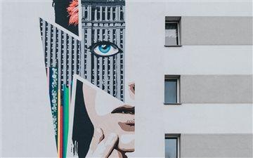 David Bowie graffiti Mac wallpaper