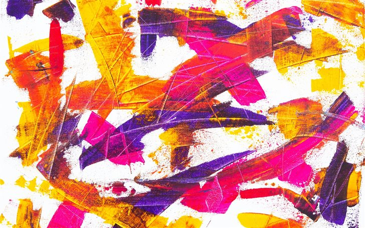 Abstract Painting On Canv... Mac Wallpaper