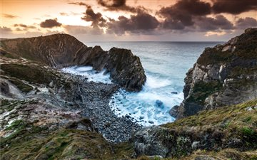 Stair Hole Sunrises Mac wallpaper