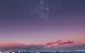 Mountain Milky Way Mac wallpaper