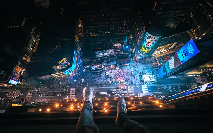 Above Time Square. Mac Wallpaper