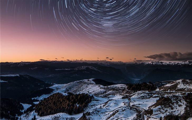Mountain Vortex Star Trai... Mac Wallpaper