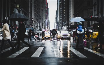 people crossing pedestria... All Mac wallpaper
