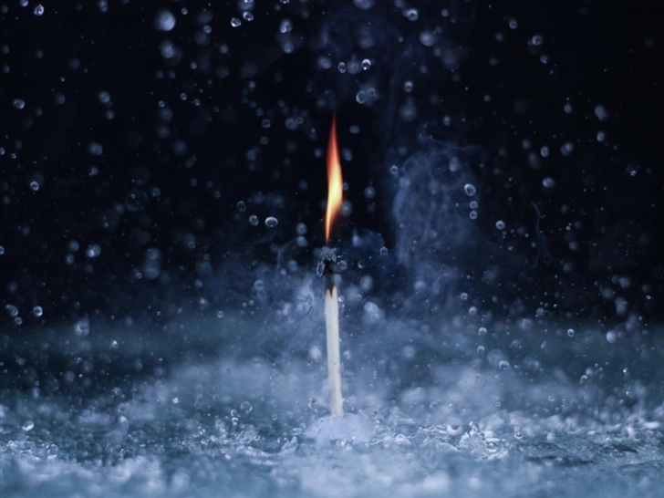 Fire In The Rain Mac Wallpaper