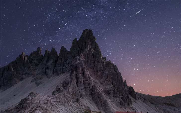 Stardust Over Dolomites Mac Wallpaper