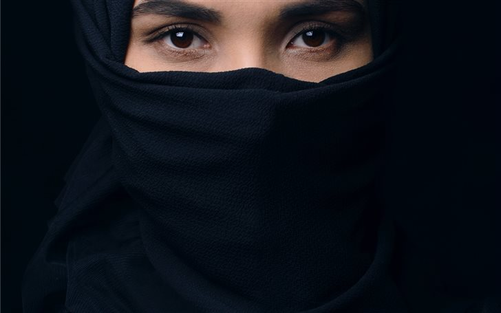 woman in black top and he... Mac Wallpaper