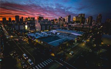 San Diego sunset through ... Mac wallpaper