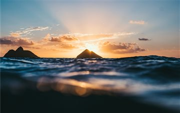 Lanikai Beach at sunrise,... Mac wallpaper