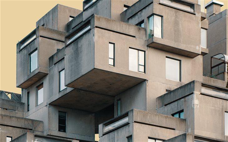 white and brown concrete ... Mac Wallpaper