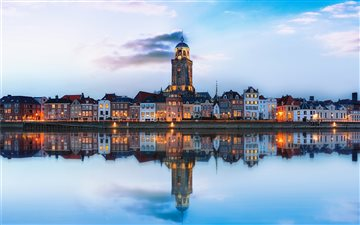 Deventer Skyline with ref... Mac wallpaper