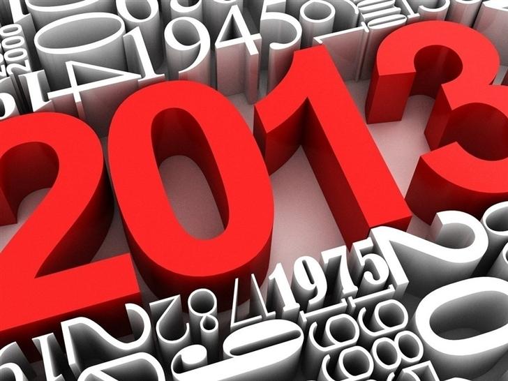 2013 New Year 3D Mac Wallpaper