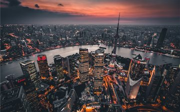 Shanghai sunset All Mac wallpaper