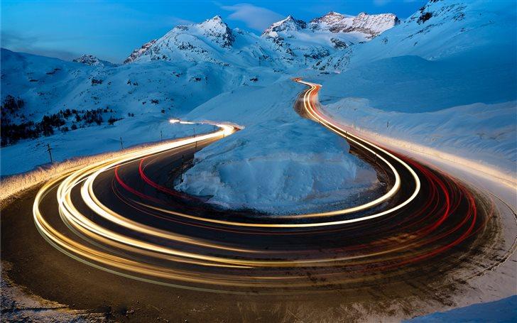 Berninapass, Switzerland Mac Wallpaper