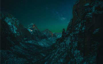 A Starry Night in Zion All Mac wallpaper
