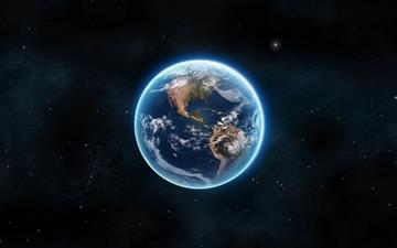 Earth The Blue Planet Mac wallpaper