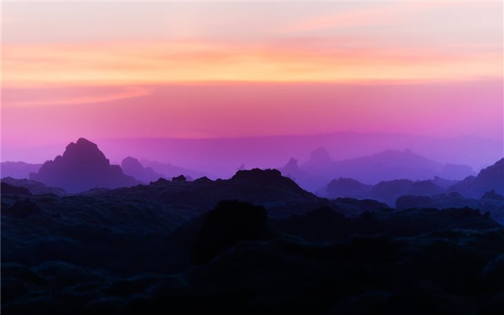 From sunset to sunrise in... Mac Wallpaper