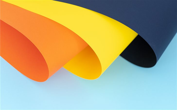 orange, yellow and blue p... Mac Wallpaper