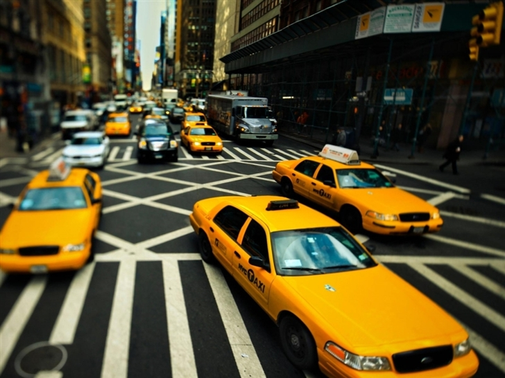 New York Cabs Mac Wallpaper