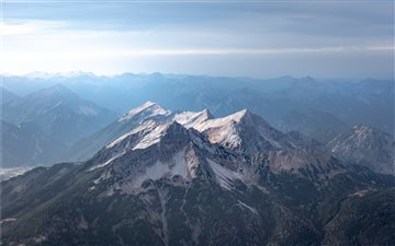 View from the Zugspitze Mac wallpaper