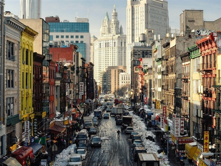 New York Street Ny Usa Macbook Air Wallpaper Download Allmacwallpaper