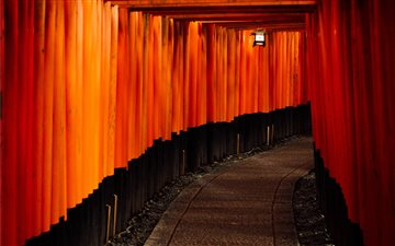 Fushimi inari taisha, kyo... Mac wallpaper