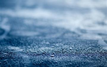 Blue Wet Surface Mac wallpaper