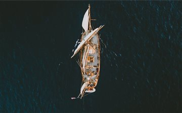 aerial view photography o... Mac wallpaper
