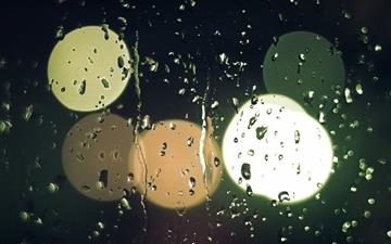 Raindrops On Glass All Mac wallpaper