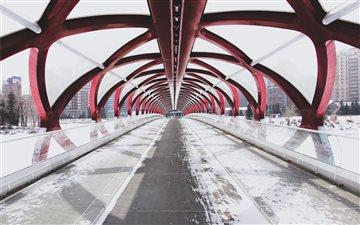 Peace Bridge, Calgary, Ca... Mac wallpaper