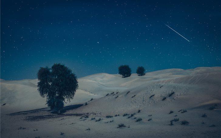 Moonlight in desert Mac Wallpaper