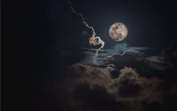 Full Worm Equinox Moon All Mac wallpaper