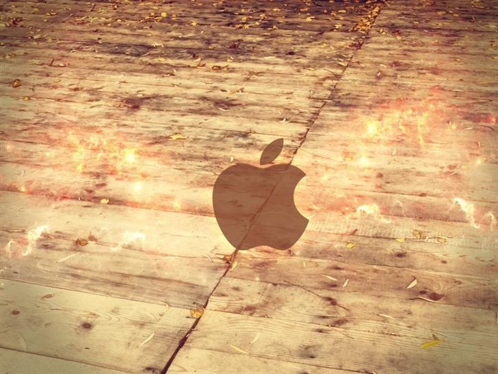 Apple Logo Wood Floor Mac Wallpaper
