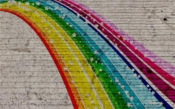 Rainbow Graffiti Mac wallpaper