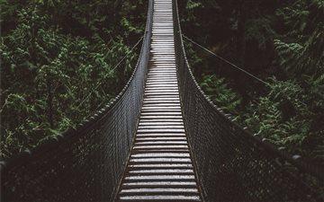 Suspension bridge. Mac wallpaper