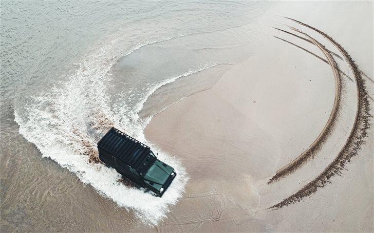 Beach vibes with a land r... Mac Wallpaper