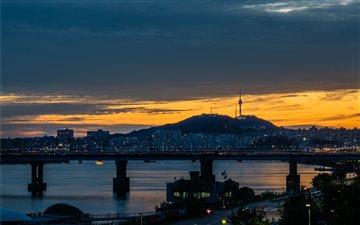 Namsan Tower , Seoul, Sou... Mac wallpaper