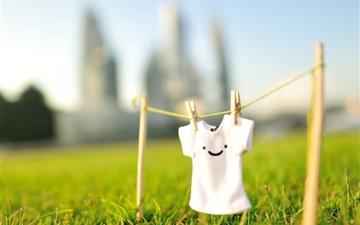 Summer Sunshine Grass Shirts Smiley Face Mac wallpaper
