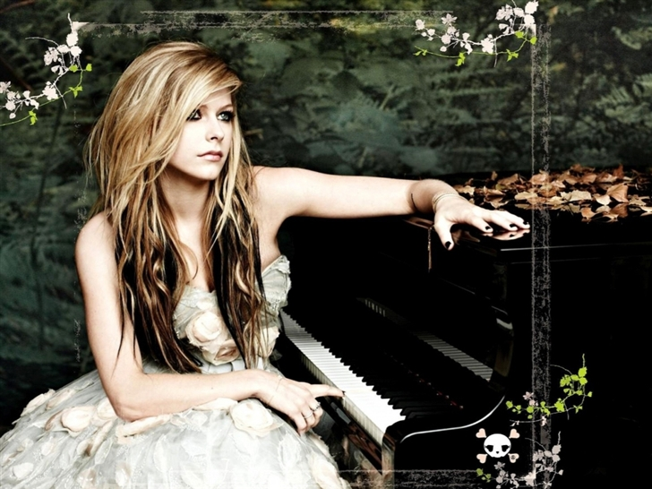 Avril Piano Singer Music Female Mac Wallpaper