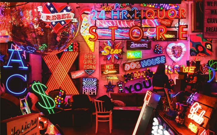 Neon Lights Mac Wallpaper