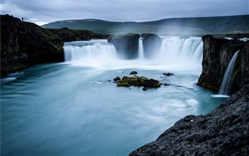 Godafoss, Iceland Mac wallpaper