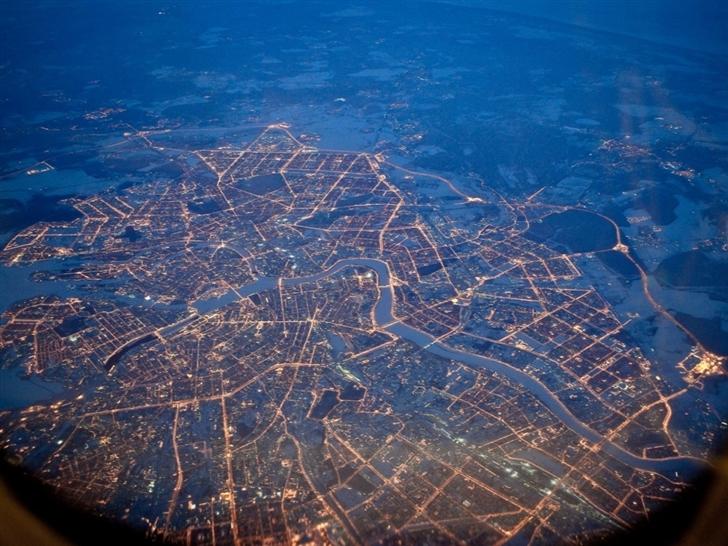 Petersburg Lights Night Mac Wallpaper