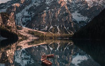 Lago di Braies, Italy All Mac wallpaper