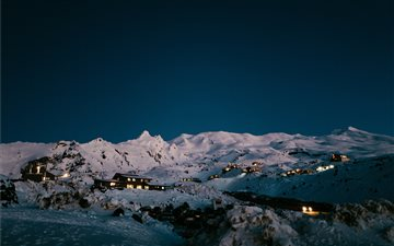 Mount Ruapehu at night, N... All Mac wallpaper