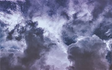 Wisteria clouds ... All Mac wallpaper