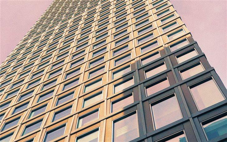 Pink Building Mac Wallpaper