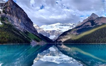 Lake Louise in Banff Nati... Mac wallpaper