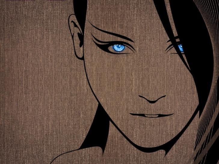 Anime girl brunettes Mac Wallpaper